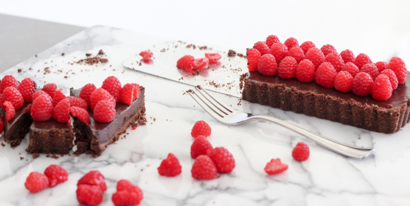 Raspberry Chocolate Tart-4