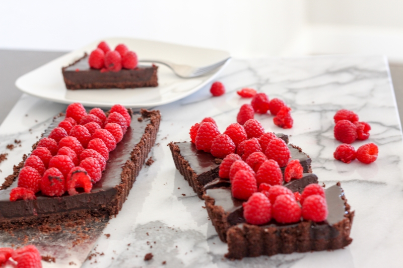 Raspberry Chocolate Tart-6