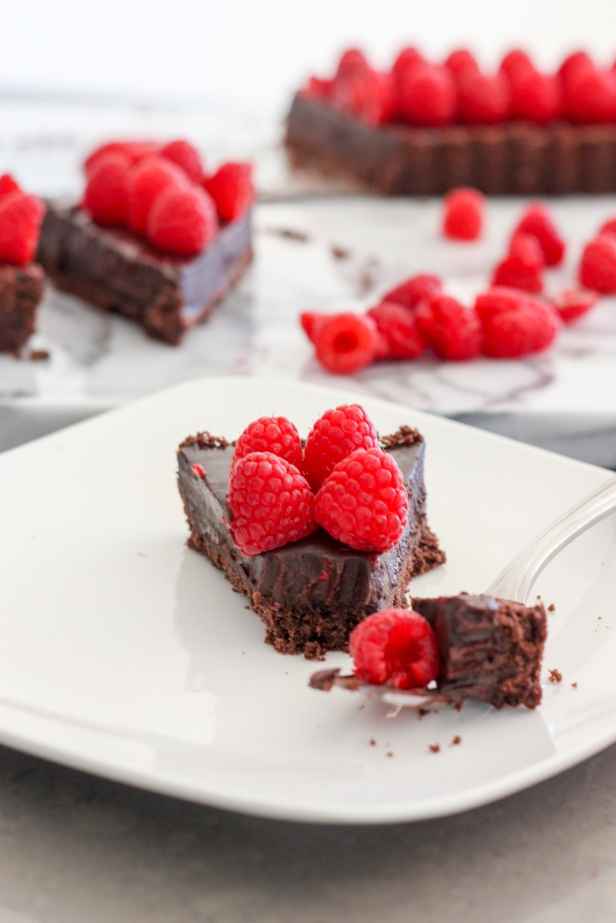 Raspberry Chocolate Tart-8