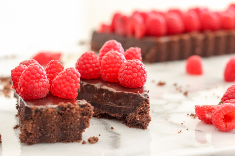Raspberry Chocolate Tart-9